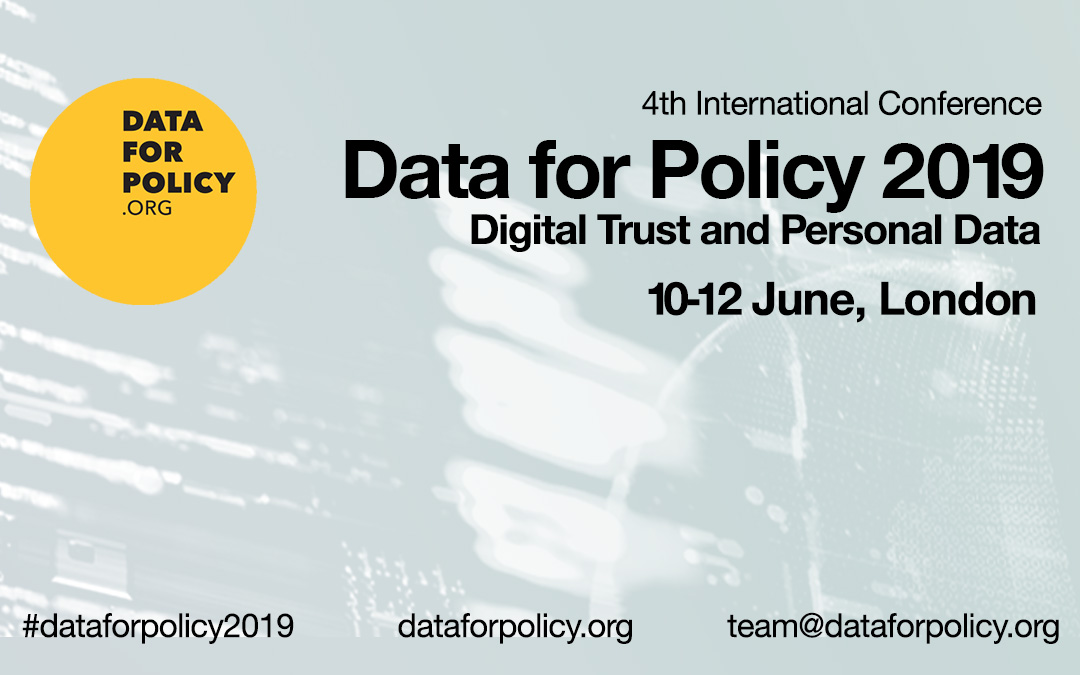Conference Announcement: Data for Policy 2019 – June 10-12 (University College London)