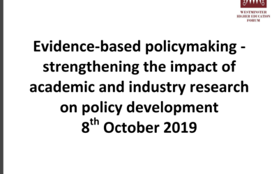 Opportunities for embedding evidence-based policy across Government (Zeynep Engin Address to Westminster Higher Education Forum)